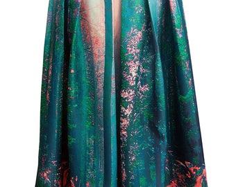 Forest print Maxi skirt
