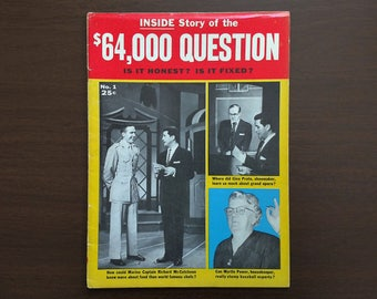 Inside Story of the 64,000 Question - 1957 Vintage - Rare 50s TV Game Show Magazine - Full of Photos - in Good condition