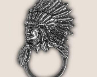 INDIAN CHIEF SUNGLASS holder pin biker pin guardian bell gremlin