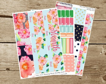 Choose your Month(ly) kit-- Floral(for use in Erin Condren Life Planner)