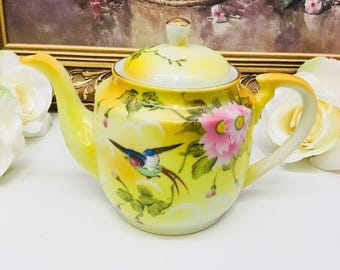 Hand painted Japanese teapot