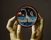 Loch Ness Monster Patch | Sew on | Embroidery | Patches for Jackets | Nessie Patch | Tumblr Patch | Cute Patch | Back Patch | Crypto Patch