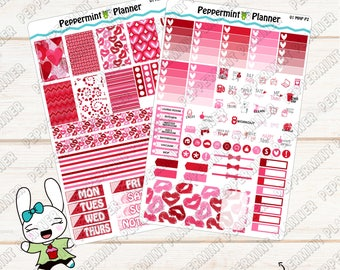 Valentine Weekly Planner Kit --- For use with the Mini HP--- MHP01