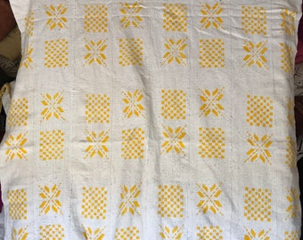 White and yellow print