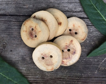 Manitoba Maple Wood Buttons // Handmade Wood Buttons // Made in Canada // Rustic Wood Buttons // Wooden Buttons