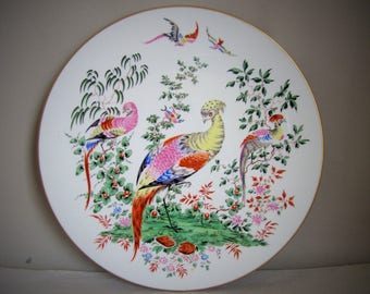 Vintage Royal Worcester Collectors Series Fabulous Birds Plate #3259,Number One in Series, Collectable Wall Plate, Decorative, Limited Ed