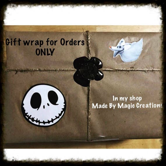 Gift Wrap Jack Skellington gift wrap Christmas Gift wrap