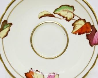 "AdderleyWare Orphan Saucer ""Autumn Leaves"" Pattern 09541"
