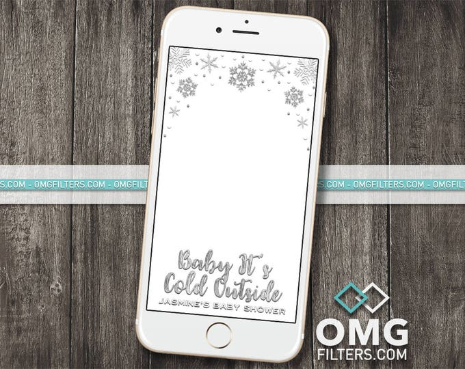 Winter Wonderland Geofilter 2 - Custom Snapchat Filter - Holiday Party / Birthday / Baby Shower - Any Event - Any age!