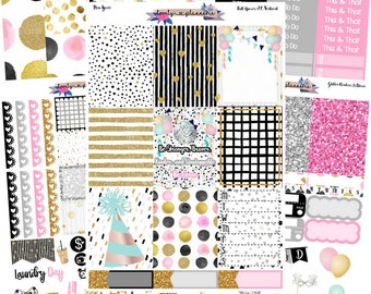 VERTICAL Kit, New Years Kit, Made for Use with Erin Condren Life Planners, EC Vertical, Planner Stickers, Sticker Kit