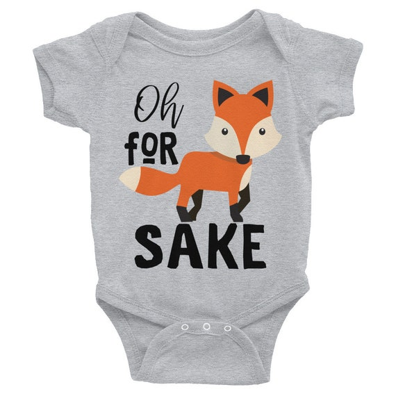 Oh For Fox Sake Baby Onesie, Fox Onesie, Tribal Fox, Boho Baby Clothes, fox baby clothes, woodland onesie, fox baby shower, woodland fox
