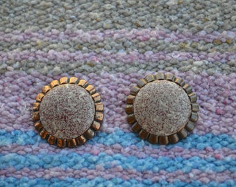 Large Vintage Earrings/Satement Earrings/Stud Earrings
