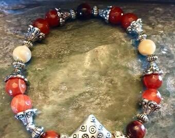 Carnelian Sacral Chakra Metaphysical Gemstone Bracelet