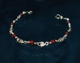 925 silver bracelet and Jasper