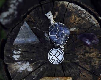 Gemini Necklace - Gemini Jewelry - Zodiac Necklace - Zodiac Charm