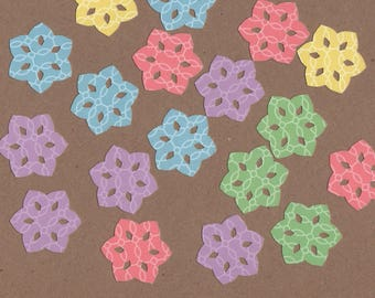 "35 - 1 1/2"" Pastel Flower Die Cuts for Paper Crafts Set 2"