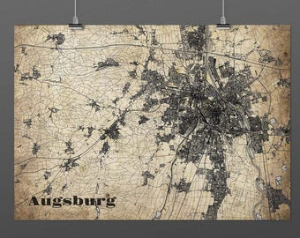 Augsburg DIN A4 / DIN A3 - print - turquoise
