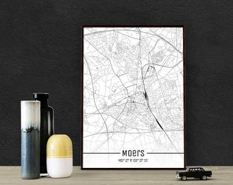 Moers-Just a map-din A4/A3-Print