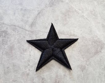 Black Star Patch Iron on Applique