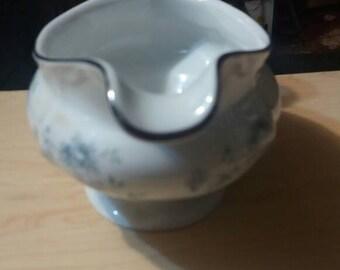 Johann  Haviland Bavaria Germany Blue Garland Gravy Bowl Vintage