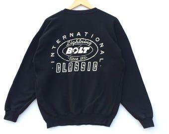 Vintage Lightning Bolt Sweatshirt / Lightning Bolt Shirt / Lightning Bolt Hoodie / Surf Shirt / Skate Tee