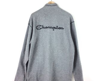 Vintage Champion Big Logo Fleece / Champion Jacket / Champion Crew / Champion Pullover / Champion Big Logo / Champion Hoodie