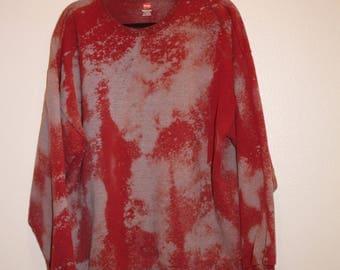 Custom Sweater Cotton Crewneck Sweatshirt Size XL Acid Wash Tie Dye