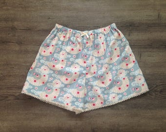 Womens Pyjama Shorts, Womens Pyjamas, Pyjamas, Pyjama Pants, PJ's, pjs, cute, Sleep Wear, Cotton shorts, Gift For Her.