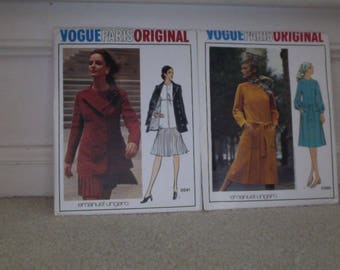 Vogue Paris Original Emanuel Ungaro Vintage Sewing Pattern Bundle