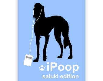 Saluki iPoop Fridge Magnet