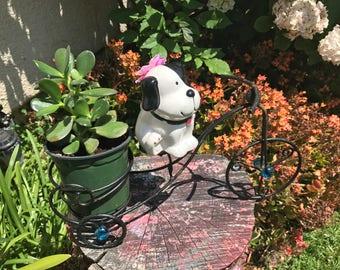 Bicycle Planter.Metal Bike Pot.Succulent Planter.Jade Plant.Dog Bike Planter.House Planter.Yard Decor.Home Decor.House Planter.Outdoor Decor