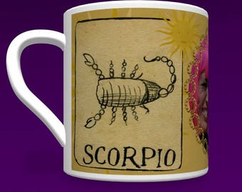 Scorpio Zodiac Mug Personalised for any relative or friend