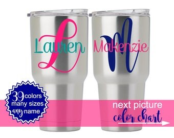 Yeti Decal, Yeti Decal for Women, Yeti Tumbler Decal, Yeti Vinyl Decal for Yeti, Personalized Tumbler Cup Decal, Personalized Yeti Cup 5LN1Y