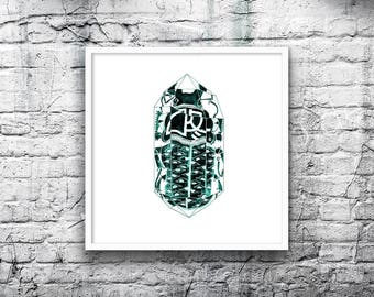 Insect Art Print -Beetle