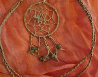 Aventurine Dream Catcher Necklace