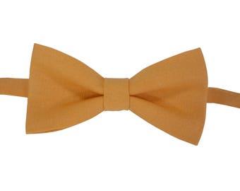 Orange Linen Bow Tie Orange baby bow tie Groomsmen bow tie Orange bowtie Bow ties for men Orange wedding bow tie for boys Toddler bow tie