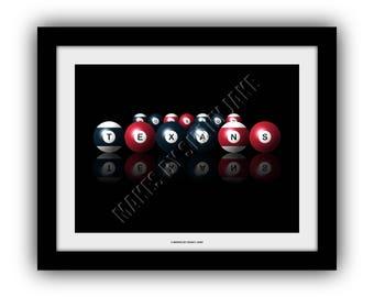 Houston Texans  Billiards Print