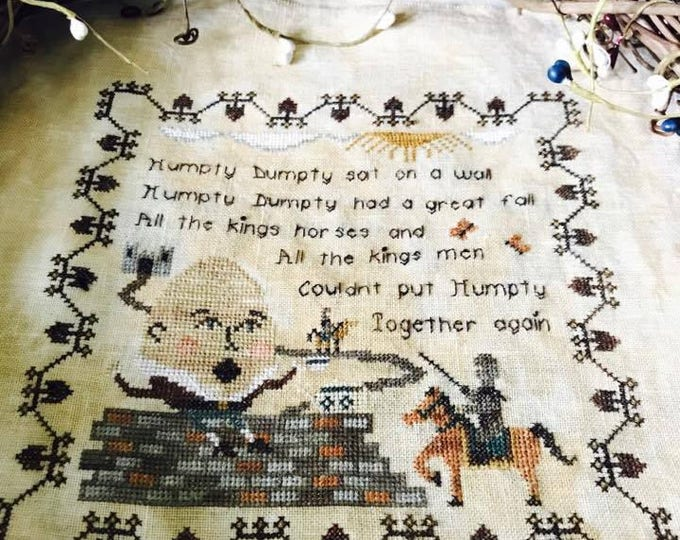 Nursery Rhymes - Humpty Dumpty Cross Stitch Pattern
