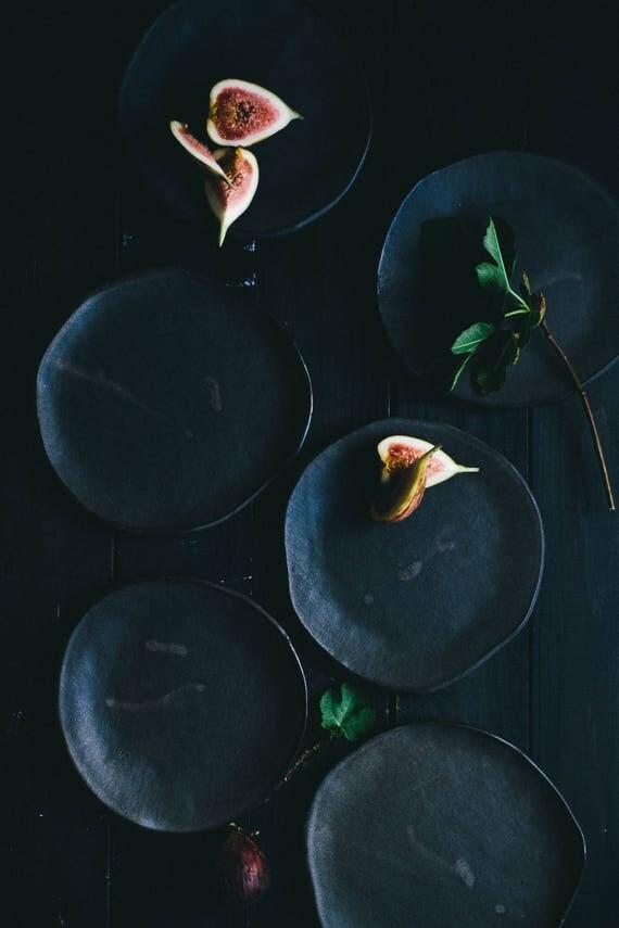 Matt Black Appetizer Plates