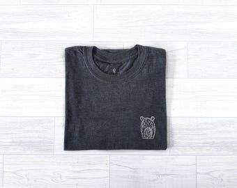 Screen Print T-Shirt - Wilbur Tee - Heather Grey