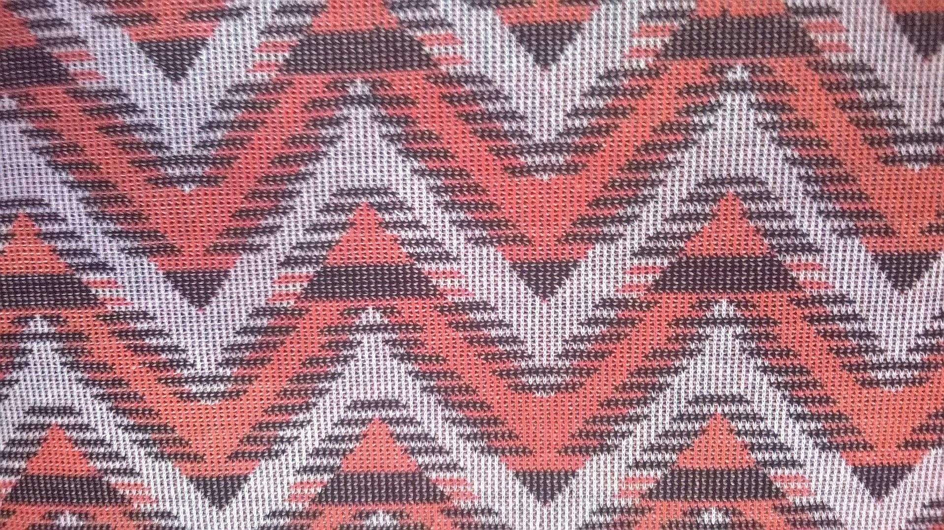 Chevron knitted fabric, orange & white chevron fabric,fabric by ...