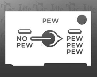 PEW PEW PEW (Vinyl Decal)
