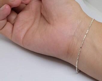 Simple Sterling Silver Bracelet, Dainty Delicate Bracelet, Simple Basic Sterling Silver Jewelry