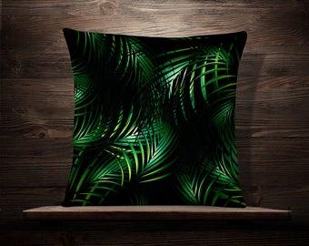 Palm Pillow   Palm Leaf Pillow   Palm Leaf Pillowcase   Tropical Pillowcase   Palm Pillowcase   Tropical Pillow Case   Palm Leaf Pillow Case