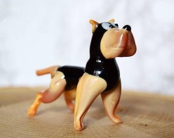 Glass bulldog figurines, bulldog xmas ornaments, bulldog gifts, a bulldog for Christmas, gift for New Year 2018, Chinese New Year dog