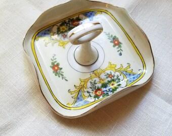 Noritake Tid-Bit Dish – Hand-Painted – c. 1930 – Business Card Holder