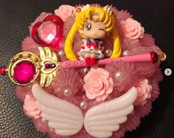 Ready to ship! Decoding anime Sailor Moon manga eye lashes box kawaii
