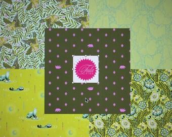 NEW Spirit Animal Green FQ Bundle by Tula Pink