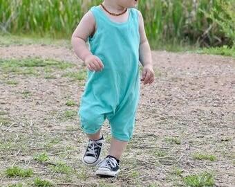 baby romper - toddler romper - mint romper - kids romper