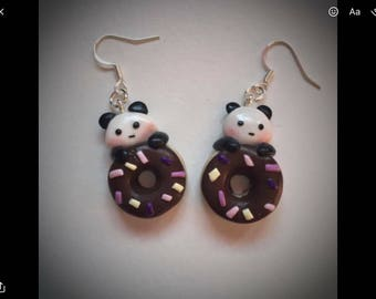 panda on doughnuts
